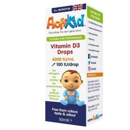 Vitamin D3 drops box image
