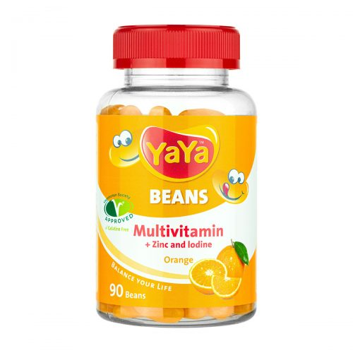 YaYa Beans Multivitamin + Zinc & Iodine (Orange)