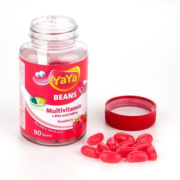 YaYa Beans Multivitamin + Zinc & Iodine (Raspberry)